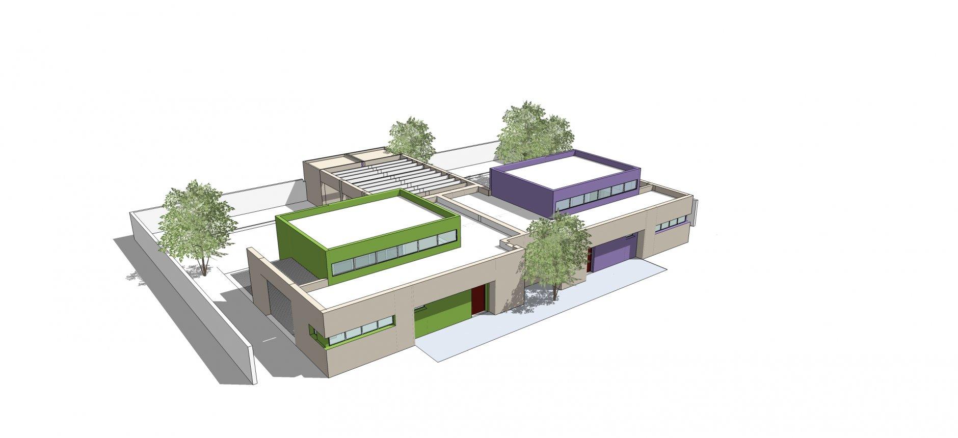 מודל לתכנון גן ילדים בגבעתיים